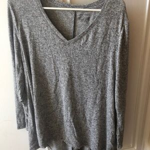 Lane Bryant gray long sleeve